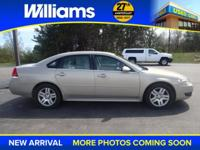 Options:  2011 Chevrolet Impala Lt|Beige|40/40 Front