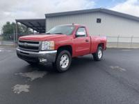 6-Speed Automatic, 4WD.   Red 2011 Chevrolet Silverado