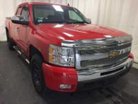 4x4 LT, four Door Ext Cab. Victory Red on Black