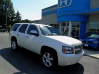 2011 Chevrolet Tahoe LTZ In Summit White. 4WD and Light