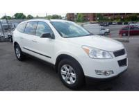 CARFAX One-Owner. White 2011 Chevrolet Traverse LS FWD