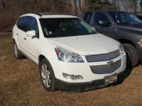 Summit White 2011 Chevrolet Traverse LTZ AWD 6-Speed