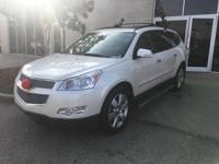 CARFAX One-Owner. White 2011 Chevrolet Traverse LTZ FWD