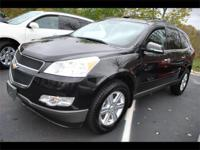 2011 CHEVROLET TRAVERSE LT -ALL WHEEL DRIVE - BLACK