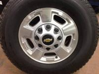 OEM wheels and tires off of a 2011 Chevy 2500 HD. Tires