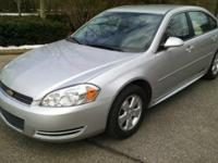 2011 CHEVY IMPALA LS. Flex fuel. Silver Outside, Black