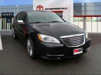 CARFAX One-Owner. Black Clearcoat 2011 Chrysler 200