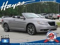Go topless this summer. 2011 Chrysler 200 S 3.6L V6