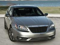 New Price! 2011 Chrysler 200 S in Black. Black Leather.