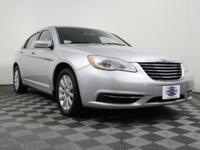 Clean CARFAX. Bright Silver Metallic 2011 Chrysler 200