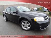 Carfax Certified and Avenger Lux pkg. Room for all