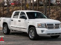 Clean CARFAX. White 2011 Dodge Dakota Laramie 4WD