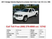 2011 Dodge Dakota Bighorn_Lonestar 4x4 Crew Cab 131.3