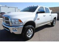 Laramie trim. Heated Leather Seats, iPod/MP3 Input,