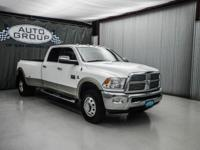 2011 RAM 3500 LARAMIE 4X4 DRW: BRIGHT WHITE/ LIGHT