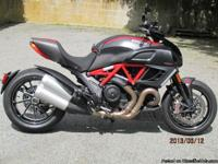 2011 Ducati Diavel Carbon Recent 1500 mile service