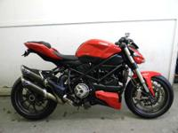 With 155 horsepower of Ducati muscle this fighters