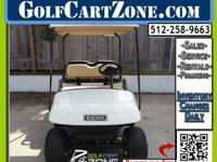 Clean Electric Cart Ready For Customizing This EZGO