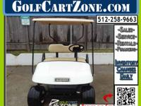 Clean Electric Cart Ready For Customizing. This EZGO