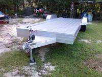 This is an all aluminum 7X24 trailer: 8.5' Wide Over