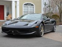 2011 Ferrari 458 Italia, dressed to kill in glossy Nero