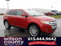 2011 Ford Edge Limited 3.5L V6 Ti-VCT Red Candy
