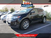 Clean CARFAX. Black 2011 Ford Edge Limited FWD 6-Speed