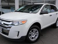 Clean CARFAX. White Suede 2011 Ford Edge SE FWD 6-Speed
