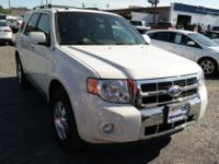 2011 Ford Escape Limited, White Suede/Charcoal Black,