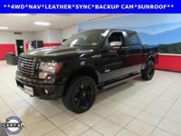 BACKUP CAM, HEATED SEATS, LEATHER, NAVIGATION, SYNC,