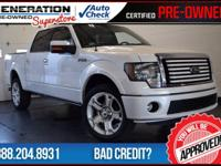 F-150 Lariat Limited, 4D SuperCrew, AWD, and White