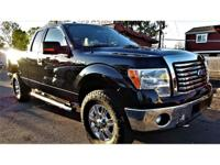 This is a beautiful BLACK 2011 FORD F-150 4 DOOR CAB,