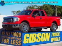 WWW.GIBSONTRUCKWORLD.COM 2011 Ford F150 XLT Quad Cab