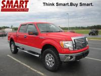 Exterior Color: race red, Body: 4x4 XLT 4dr SuperCrew