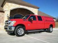 2011 CREW CAB LONG BED F-350 LARIAT THAT IS LOADED WITH