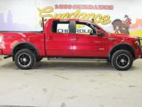 Red 2011 Ford F-150 Lariat 4WD 6-Speed Automatic
