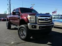 New Price! Burgundy 2011 Ford F-250SD Lariat 4WD