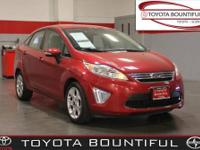 Fiesta SEL, 4D Sedan, 1.6L I4 Ti-VCT, FWD, Red Candy