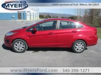 2011 Ford Fiesta. Red Candy Metallic Black Cloth Seats.