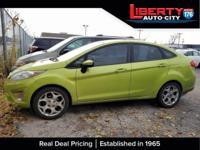 Clean CARFAX. Lime Squeeze Metallic 2011 Ford Fiesta