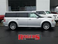 This Ford Flex has a V6, 3.5L high output engine. Our