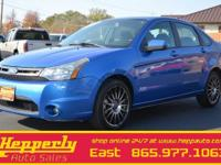Clean CARFAX. This 2011 Ford Focus SES in Blue