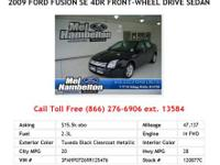2011 Ford Fusion Red SE 4dr Front-wheel Drive Sedan