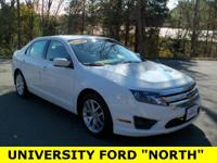 Clean CARFAX 2011 Ford Fusion SEL White Suede 2.5L I4