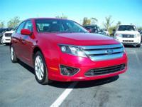 2011 Red Ford Fusion SEL V6 in Excellent