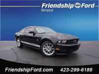 CARFAX One-Owner. Clean CARFAX. Ebony 2011 Ford Mustang