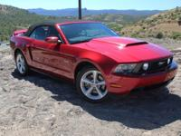 5.0L V8 Ti-VCT 32V. 6 speed manual! Red and Ready!