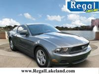 Gray 2011 Ford Mustang RWD 6-Speed 3.7L V6 Ti-VCT 24V