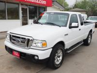2011 Ford Ranger 4.0 Super Cab XLT 4X4. Low miles, 1