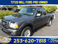 Dark Shadow Gray Metallic 2011 Ford Ranger Sport RWD